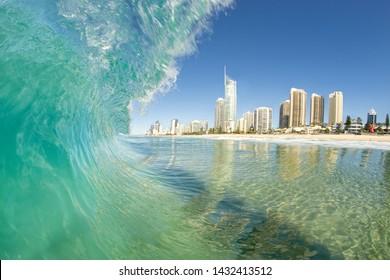 Clean wave on the Gold Coast, Australia.