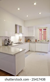 Clean and white color modern classy minimalistic kitchen
