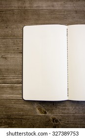 clean white and empty notebook