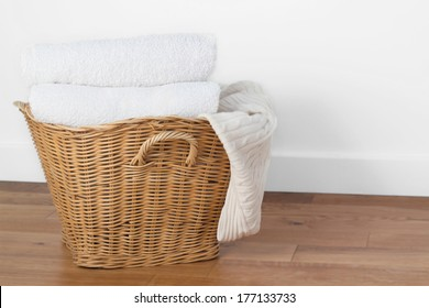 clean white laundry