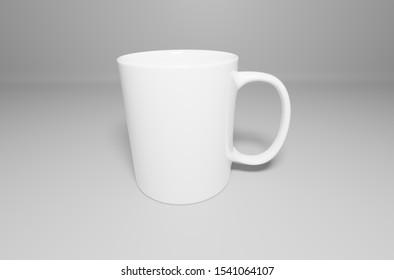 Clean White Mug Image for Mockup