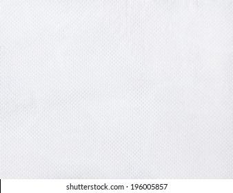 Clean white paper towel texture close up