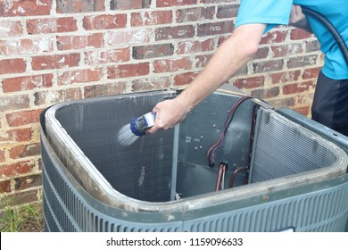 Cleaning Air Conditioner Condenser Coil