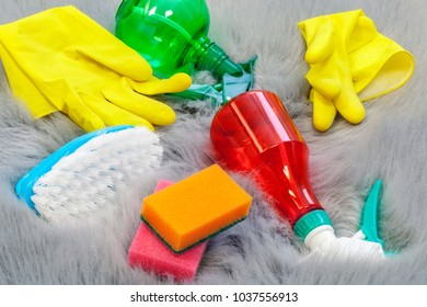 Cleaning equipment on carpet