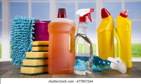 Cleaning Equipment and window background