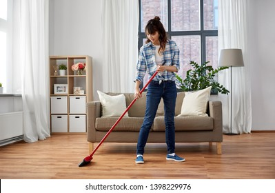 sweeping floor images stock photos vectors shutterstock https www shutterstock com image photo cleaning housework housekeeping concept happy asian 1398229976