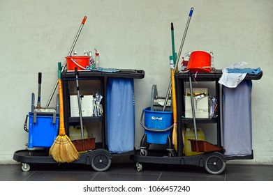 The Cleaning Implements. Brooms, brushes, buckets, cloths, dustpans, detergents. Too often the folks who use these tools are overlooked or looked down on, yet, without them, we would be in a real mess