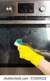 Cleaning of kitchen appliances with special means
