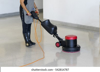 Cleaning maintenance industrial expand in big cities, cleaner staffs have to use scrubber machine for cleaning concrete floor and polishing floor for safety time.