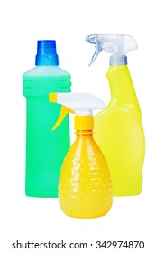 Cleaning Products Bottles