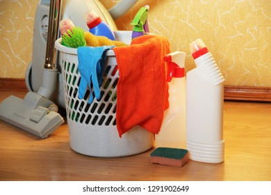 Cleaning products. The concept of house cleaning