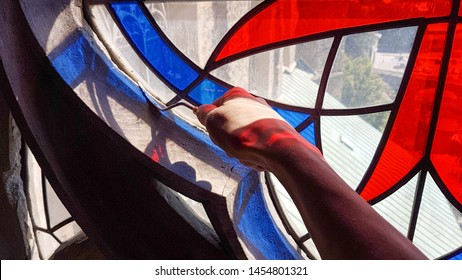 Cleaning and restoration of antique stained glass windows.