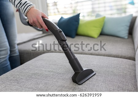 Cleaning Sofa Vacuum Cleaner Stock Photo Edit Now 626391959