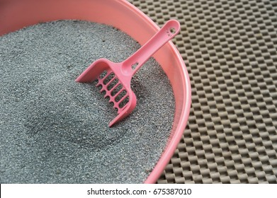 Cleaning toilet cat sand cat ,Cat's litter box.
