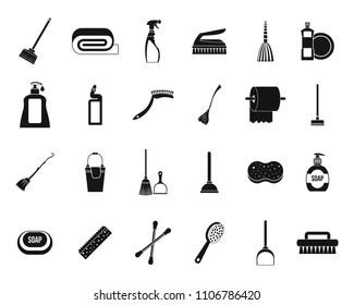 Broom Images Stock Photos Vectors Shutterstock Simple Intercom Using Tree Transistors Set Of Cleaning Tools Icons For Web Design Isolated On