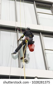 cleaning windows in mountaineering equipment