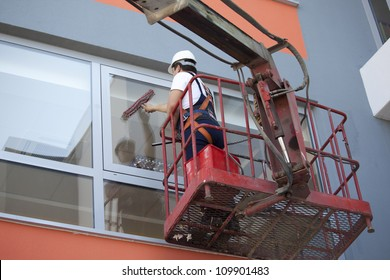 Cleaning of windows from outside