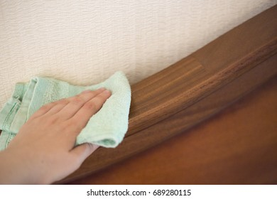 Cleaning of wooden furniture