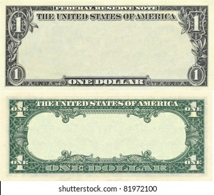 Clear 1 dollar banknote pattern for design purposes