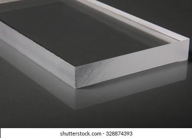 Clear Acrylic Sheet with Saw Cut Edges