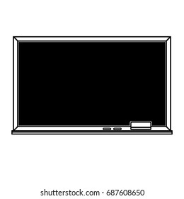 Clear blackboard outline illustration; Chalkboard outline on white background