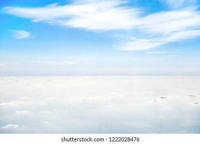 Clear blue sky and beautiful white clouds