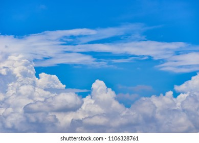 Clear blue sky and cloud