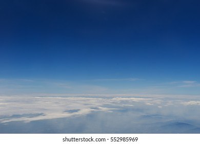 clear blue sky and cloudscape - can use to display or montage on product