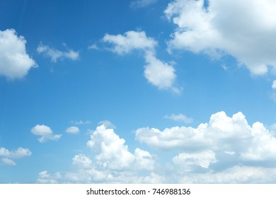 clear blue sky with cloudy