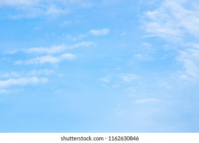 clear blue sky with plain white cloud with space for text.