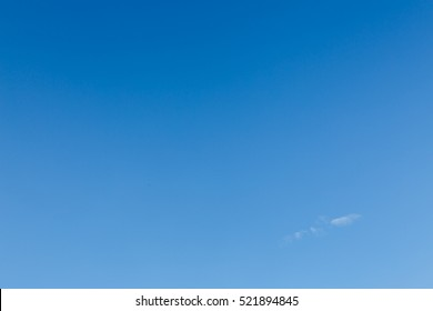 clear blue sky used for summer sky background
