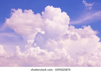 Clear blue sky with white cloud in daytime, space for text on background