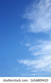 clear blue sky with white cloud in the morning good weather day