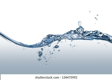 Clear, blue splashing water