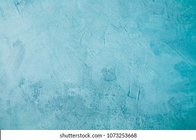 clear blue stained canvas painting draft detail, background or t
