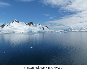 clear bluesky at antartica on summer