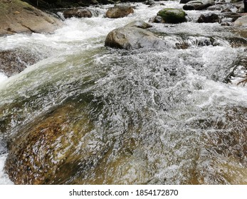 Clear cristal water of waterfall. Fresh and mesmerising view.