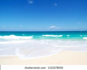 A clear day at the beach. Nassau, Bahamas.