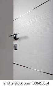 clear door open, with the handle, on white background
