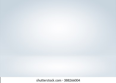 Clear empty photographer studio background Abstract, background texture of beauty dark and light clear blue, cold gray, snowy white gradient flat wall and floor in empty spacious room winter interior