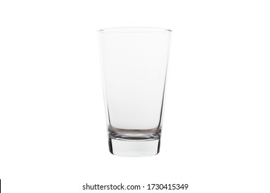 Clear glass. Isolate on white background