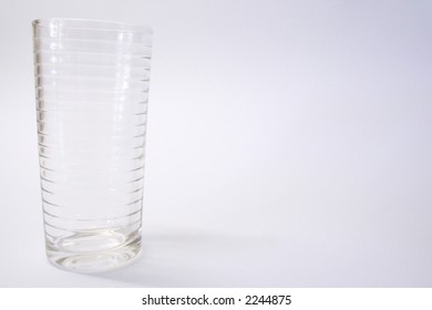Clear glass tumbler with rings