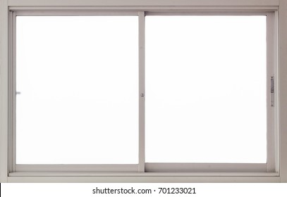 Clear Interior Stainless Steel Window Background, Isolated closed glass Panes view for Design