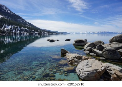 Clear lake water