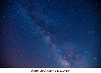 Clear milky way at night