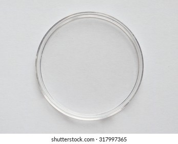 Clear plastic container for lab specimen or collecting items such as coins