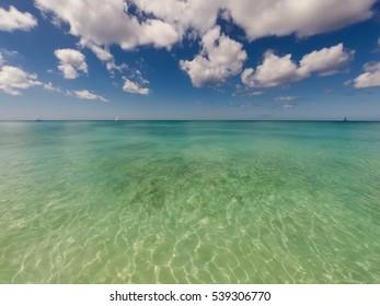 Clear sea in a Tropical island in the Caribbean
