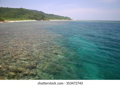 Clear sea water of Iriomote Island