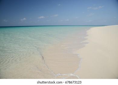clear sea water at maehama beach, okinawa