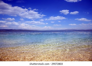 Clear sea water panoramic